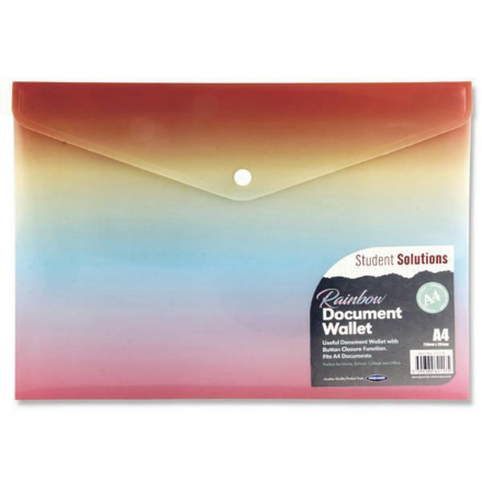 Premier Student Solutions Rainbow Document Wallet A4